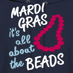 Navy Mardi Gras, All About The Beads Hoodies