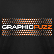 Design ~ Graphic Fuzz: White & Orange on Black
