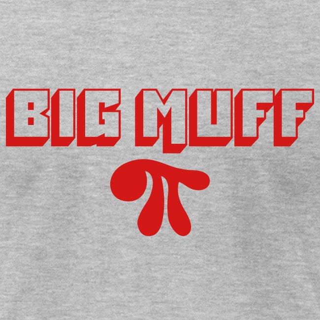 Big Muff Pi: Red on Heather Grey