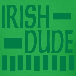Bright green Irish Dude, 3 Color Design T-Shirts - Men's T-Shirt