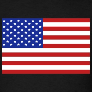 Black USA Flag T-Shirts - Men's T-Shirt