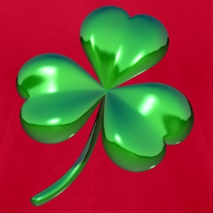 3d shamrock design - Men's T-Shirt by American Apparel