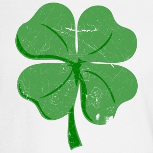 White St.Patrick's vintage four leaf clover Long sleeve shirts - Men's Long Sleeve T-Shirt