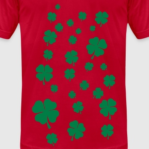 Lemon All over four leaf clover T-Shirts - Men's T-Shirt by American Apparel