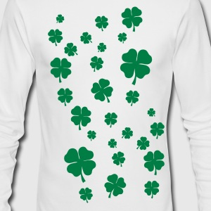 White All over four leaf clover Long sleeve shirts - Men's Long Sleeve T-Shirt by Next Level