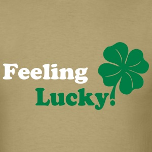 Khaki lucky St.Patrick's Day  Designer Graphic T-Shirts - Men's T-Shirt