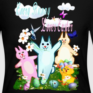 Every Bunny Loves Easter - Women's Long Sleeve Jersey T-Shirt