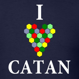 Navy I Heart Catan T-Shirts - Men's T-Shirt
