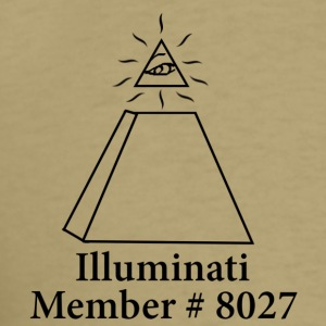 Khaki Official Illuminati Member T-Shirts - Men's T-Shirt