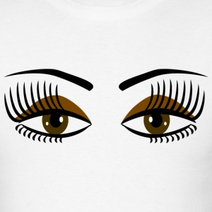 White Big Brown Eyes - DIGITAL DIRECT DESIGN T-Shirts - Men's T-Shirt