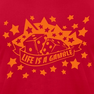 Brown life is a gamble T-Shirts - Men's T-Shirt by American Apparel