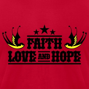 Faith Love and Hope Tee - Men's T-Shirt by American Apparel