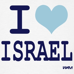 White i love israel by wam T-Shirts - Men's T-Shirt