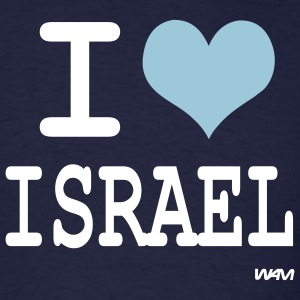 Navy i love israel by wam T-Shirts - Men's T-Shirt