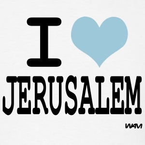 White i love jerusalem by wam T-Shirts - Men's T-Shirt