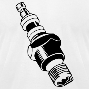 White spark plug T-Shirts - Men's T-Shirt by American Apparel