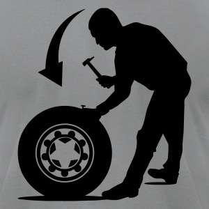 Tire repair service Men's Tee - Men's T-Shirt by American Apparel
