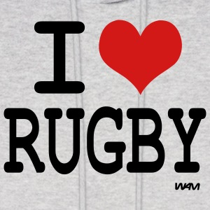 Ash  i love rugby by wam Hoodies - Men's Hoodie