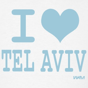 White i love tel aviv by wam T-Shirts - Men's T-Shirt