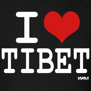 Black i love tibet by wam T-Shirts - Men's T-Shirt