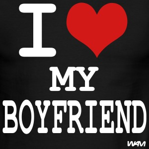 i love my boyfriend by wam T-shirts (manches courtes) - T-shirt à bords contrastants pour hommes American Apparel