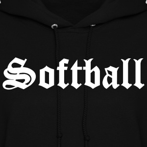 Black Softball Hooded Sweatshirts - Women's Hoodie