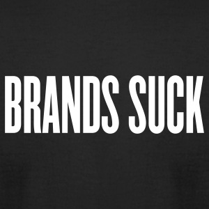 Black brands suck by wam T-Shirts - Men's T-Shirt by American Apparel