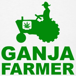 White Ganja Farmer T-Shirts - Men's T-Shirt