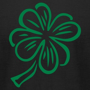Black clover_shamrock T-Shirts - Men's T-Shirt by American Apparel
