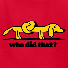 who did that? Kids T-Shirt