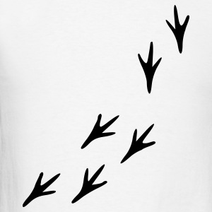 White Footprints - Bird T-Shirts - Men's T-Shirt