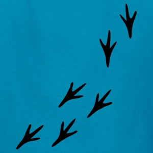 Orange Footprints - Bird Kids Shirts - Kids' T-Shirt