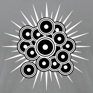 Slate Psy Speakers T-Shirts - Men's T-Shirt by American Apparel