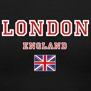 Black London, England Women's T-shirts - Women's V-Neck T-Shirt
