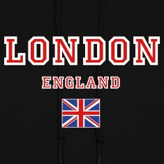 Black London, England Hooded Sweatshirts