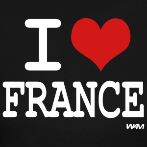 Black i love france by wam Long sleeve shirts - Women's Long Sleeve Jersey T-Shirt