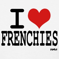 White i love frenchies by wam Women's T-shirts
