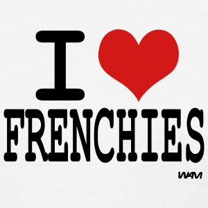 White i love frenchies by wam Women's T-shirts - Women's T-Shirt