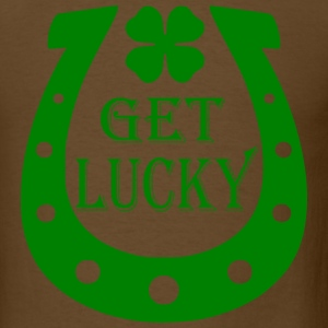 Brown Get Lucky T-Shirts - Men's T-Shirt