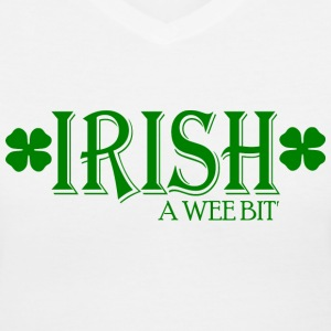 White Irish A Wee Bit Women's T-shirts - Women's V-Neck T-Shirt