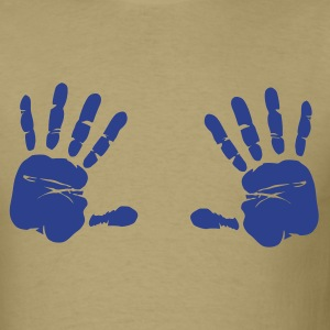 Khaki Hands T-Shirts - Men's T-Shirt