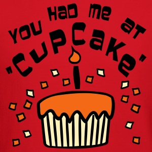 Red You Had Me At 'Cupcake' With Confetti Long sleeve shirts - Crewneck Sweatshirt