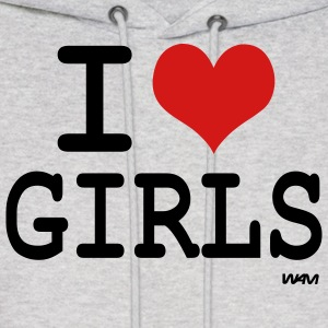 Ash  i love girls Hoodies - Men's Hoodie