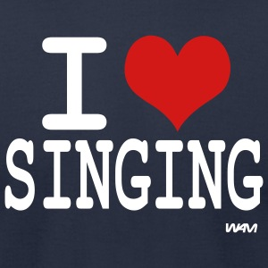Navy i love singing T-Shirts - Men's T-Shirt by American Apparel