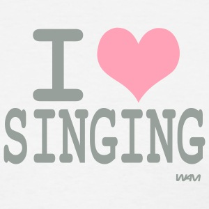White i love singing Women's T-shirts - Women's T-Shirt
