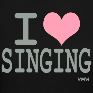 Black i love singing Long sleeve shirts - Women's Long Sleeve Jersey T-Shirt
