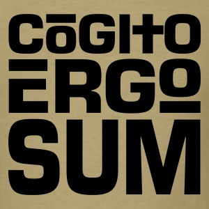 Cogito Ergo Sum Dark on Standardweight Shirt - Men's T-Shirt