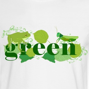 White Green Long sleeve shirts - Men's Long Sleeve T-Shirt