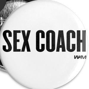 White sex coach by wam Buttons - Large Buttons