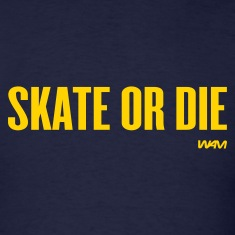 Navy skate or die by wam T-Shirts